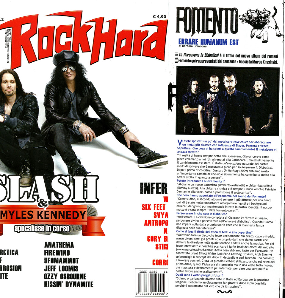 Rock Hard Intervista Maggio COMPLETO